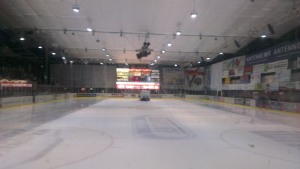 The calm before the insane, final period of action at the Eishalle Rostock in the Schillingallee (c) Banners On The Wall
